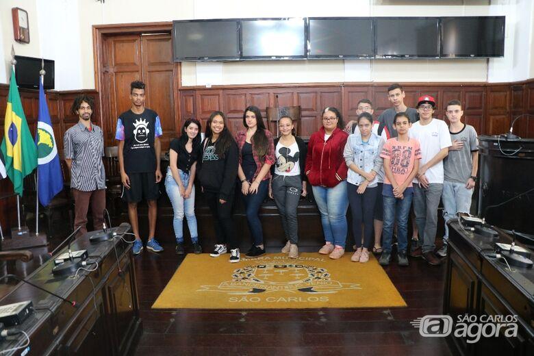 Projeto Visite a Câmara recebe alunos da escola Gabriel Félix - Crédito: Divulgação
