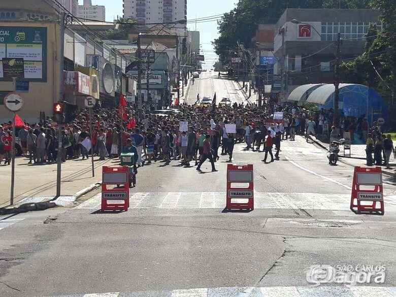 Professores, trabalhadores, estudantes e sindicalistas prometem 'parar' São Carlos - Crédito: Arquivo SCA