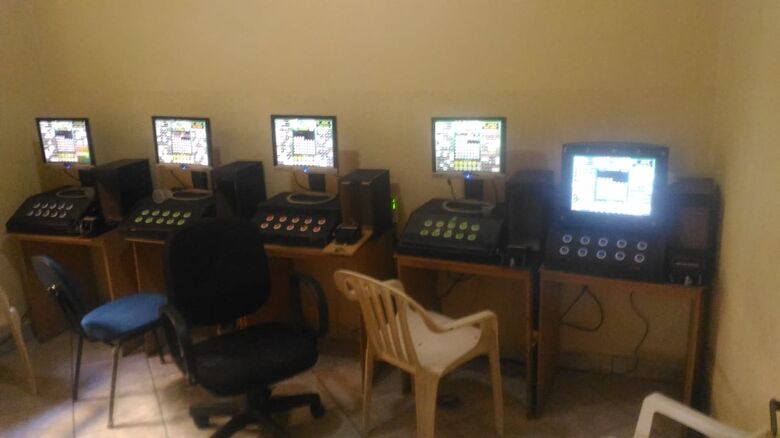 PM apreende 17 máquinas caça-níqueis no Centro - Crédito: Divulgação