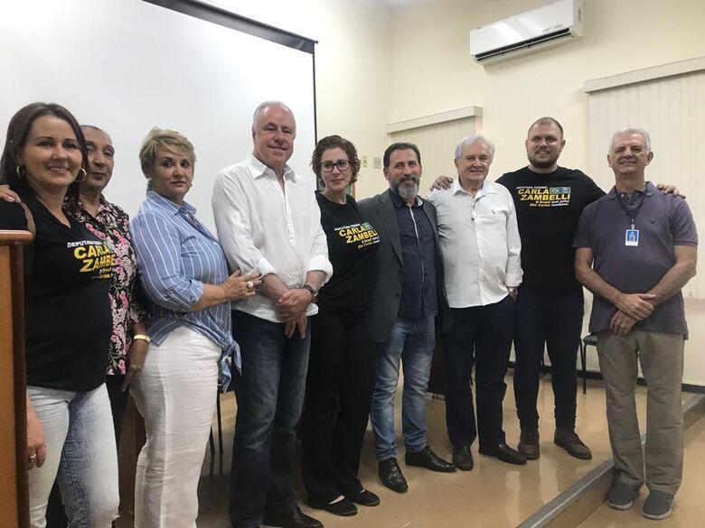 Deputada federal Carla Zambelli é recebida pela provedoria da Santa Casa de São Carlos - Crédito: Divulgação