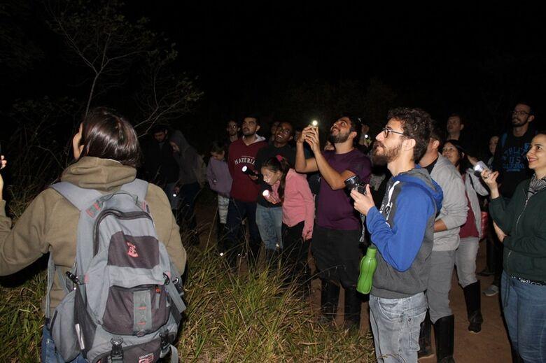 """Na """"Lua Cheia"""", cerrado receberá visitas noturnas - Crédito: Facebook.com/TrilhaDaNaturezaUfscar"""