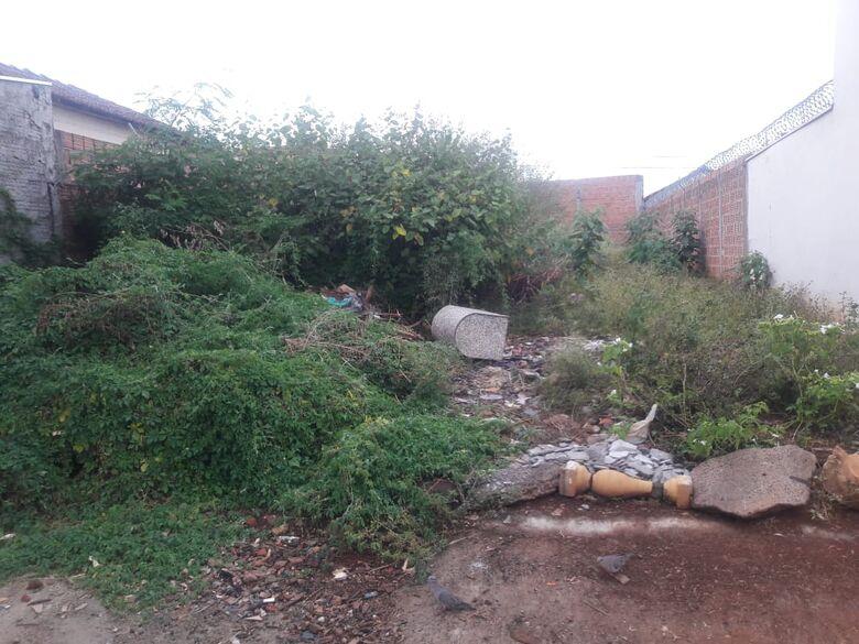 Terreno abandonado serve de depósito de lixo no Botafogo - Crédito: Divulgação