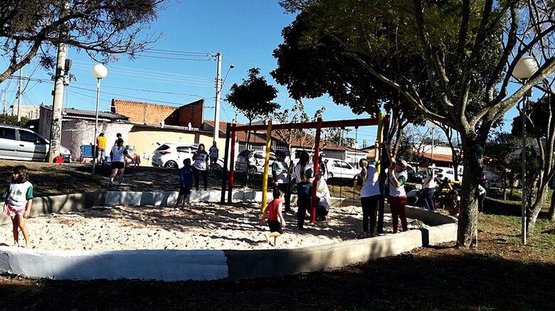 22º Dia do Voluntariado, praça é revitalizada no Parque Delta - Crédito: Divulgação