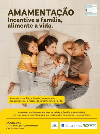Semana Mundial da Amamentação envolve a família para garantir o sucesso da amamentação -