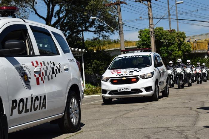 Viaturas da Polícia Militar ganham nova identidade visual - Crédito: Divulgação/PM