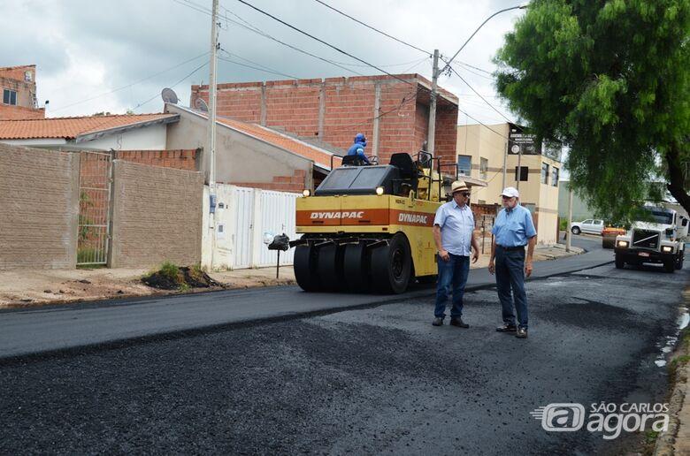 São Carlos dá início a maior obra de recapeamento da história da cidade - Crédito: Divulgação