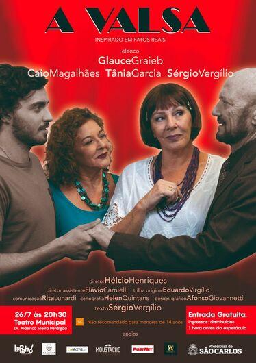 """Teatro Municipal de São Carlos recebe a peça """"A Valsa"""" - Crédito: Divulgação"""