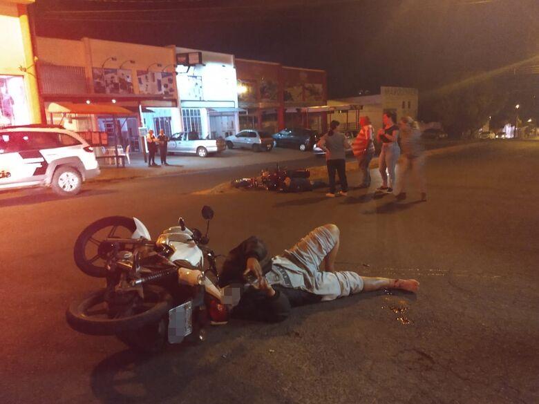 Colisão entre motos deixa um ferido no Botafogo - Crédito: Luciano Lopes