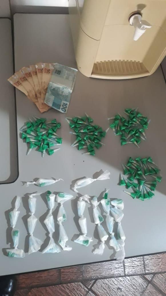 Suspeito é detido com cocaína e crack no Gonzaga - Crédito: Divulgação