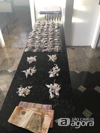 PM apreende drogas em residência em Ibaté - Crédito: Divulgação