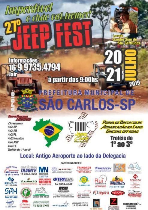 Jeep Fest promete adrenalina para o final de semana em São Carlos -