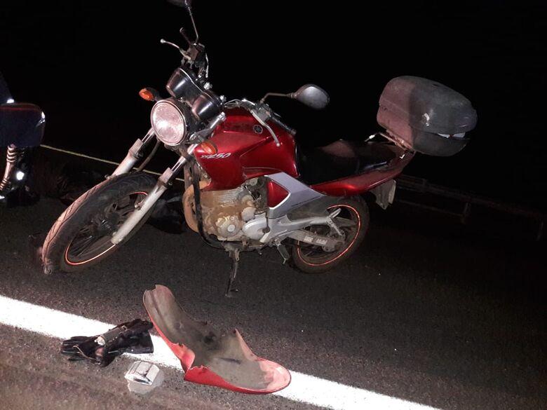 Casal em moto atropela capivara na rodovia e mulher morre - Crédito: Maycon Maximino