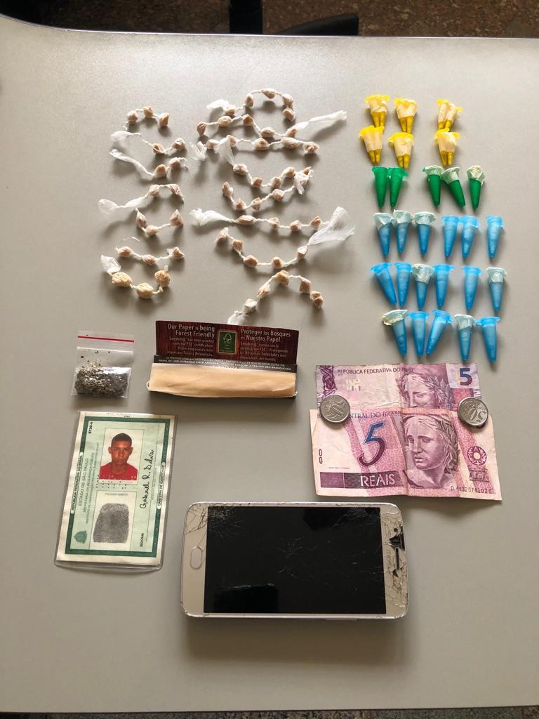 Após tentativa de fuga, acusado de tráfico é detido em Ibaté - Crédito: Divulgação