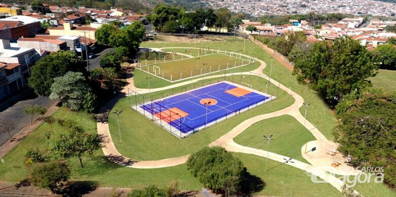 Com recursos de emenda do vereador Edson Ferreira, Praça no Jardim Beatriz se torna complexo esportivo - Crédito: Divulgação