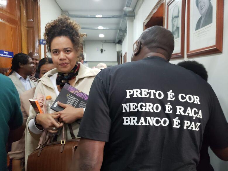 Comunidade negra faz ato de repúdio contra preconceito na Câmara - Crédito: Divulgação