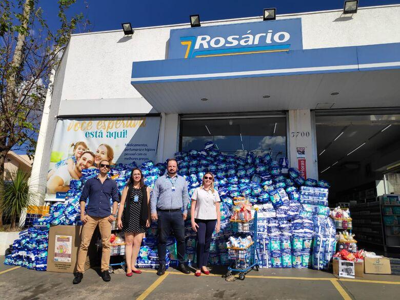 Rosário Farmácia, CCAA e Fapack lançam campanha de arrecadação de produtos para o Cantinho Fraterno - Crédito: Divulgação