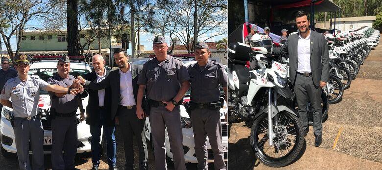 Rodson participa de entrega de viaturas da Policia Militar para São Carlos - Crédito: Divulgação