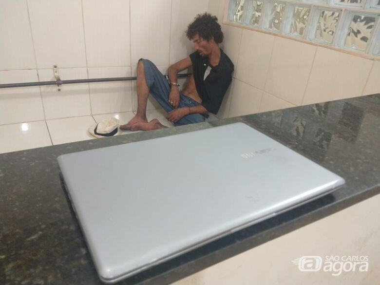 PM prende homem que furtou notebook de estudante da USP - Crédito: Luciano Lopes/São Carlos Agora