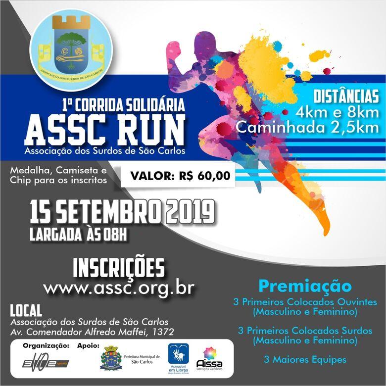 Associação dos Surdos promove corrida solidária em São Carlos -