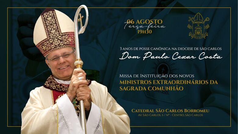 Diocese de São Carlos celebra 3 anos com Dom Paulo Cezar -