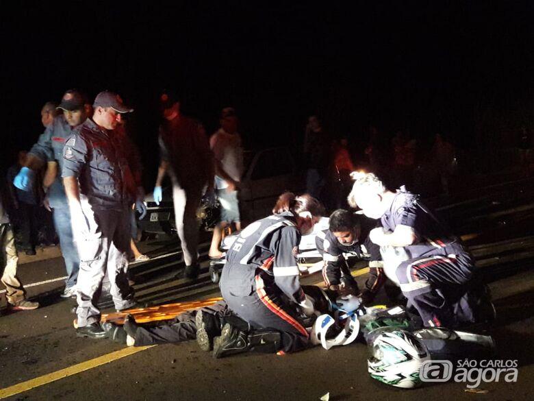Morre na Santa Casa motociclista que sofreu acidente na estrada do Broa - Crédito: Maycon Maximino