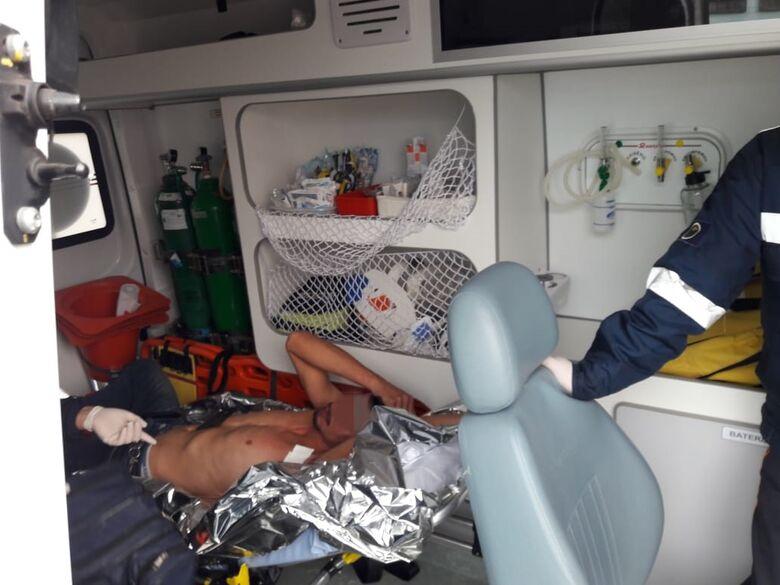 Homem é agredido no centro de São Carlos - Crédito: Maycon Maximino
