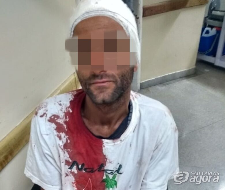 Após bater na esposa e em uma criança de 9 anos, homem é agredido por populares - Crédito: Divulgação