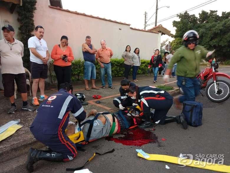 Motociclista tem perna amputada após acidente - Crédito: Luciano Lopes