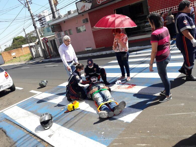 Colisão deixa uma pessoa ferida no Jardim Paraíso - Crédito: Maycon Maximino