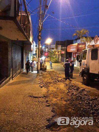 Prefeitura e ACISC iniciam obras de revitalização do Calçadão - Crédito: Divulgação