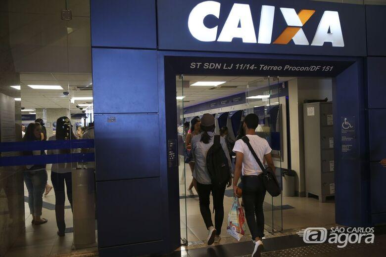 Agências da Caixa vão abrir no sábado para saques do FGTS - Crédito: Agência Brasil