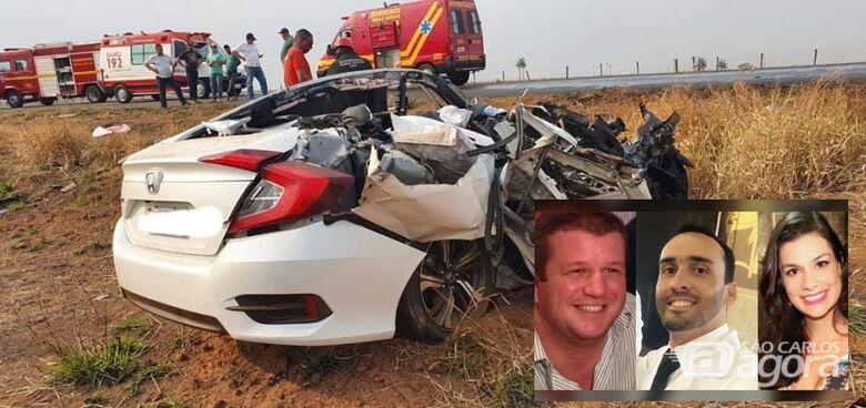 Médicos e engenheira, moradores no interior de SP, morrem em acidente em MG - Crédito: Divulgação/PMRv