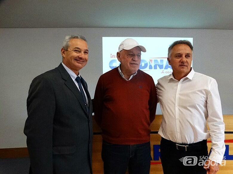 Telhada, Airton Garcia e o empresário Italinho Cardinalli - Crédito: Marcos Escrivani