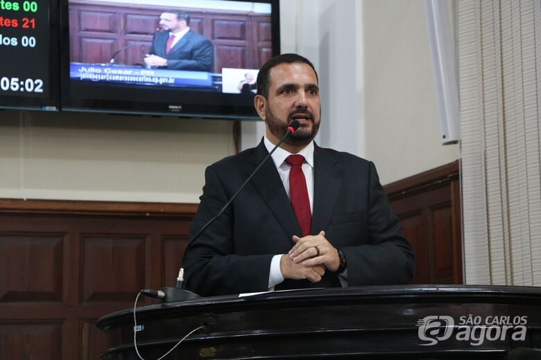 Julio Cesar questiona falta de psicólogos e psiquiatras na rede municipal - Crédito: Divulgação