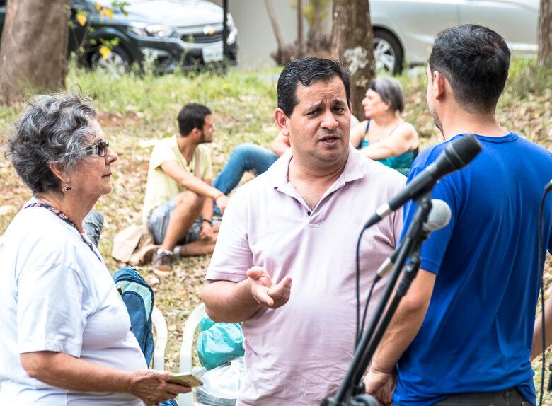 Roselei participa de evento ambiental no Bosque Cambuí - Crédito: Divulgação