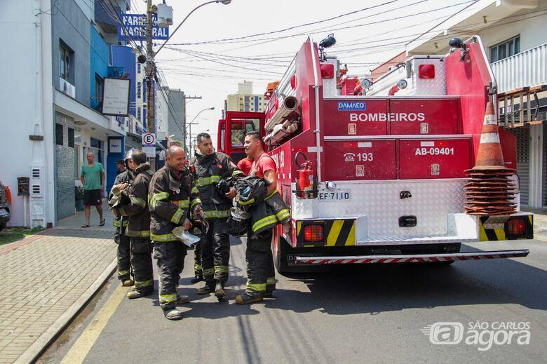 Princípio de incêndio é registrado em restaurante no Centro - Crédito: Marco Lúcio