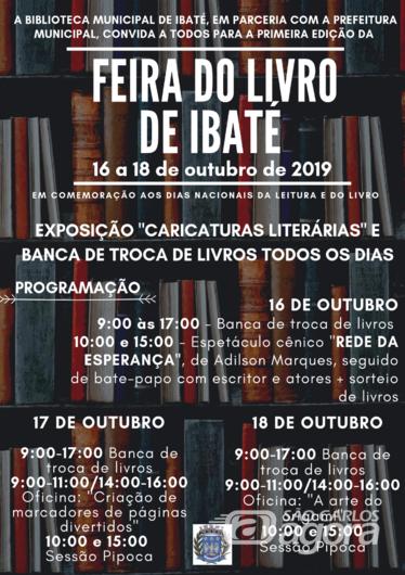Biblioteca Municipal realiza a primeira Feira do Livro de Ibaté -