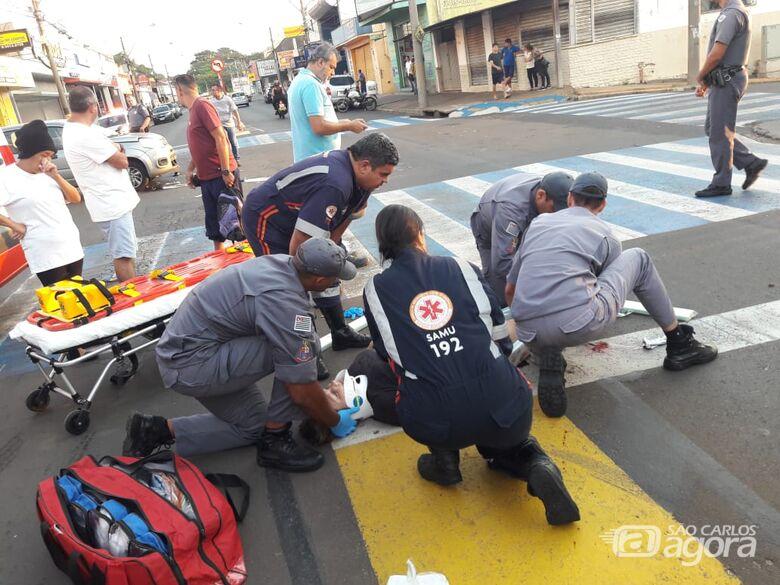 Cruzamento registra segundo acidente em menos de duas horas - Crédito: São Carlos Agora