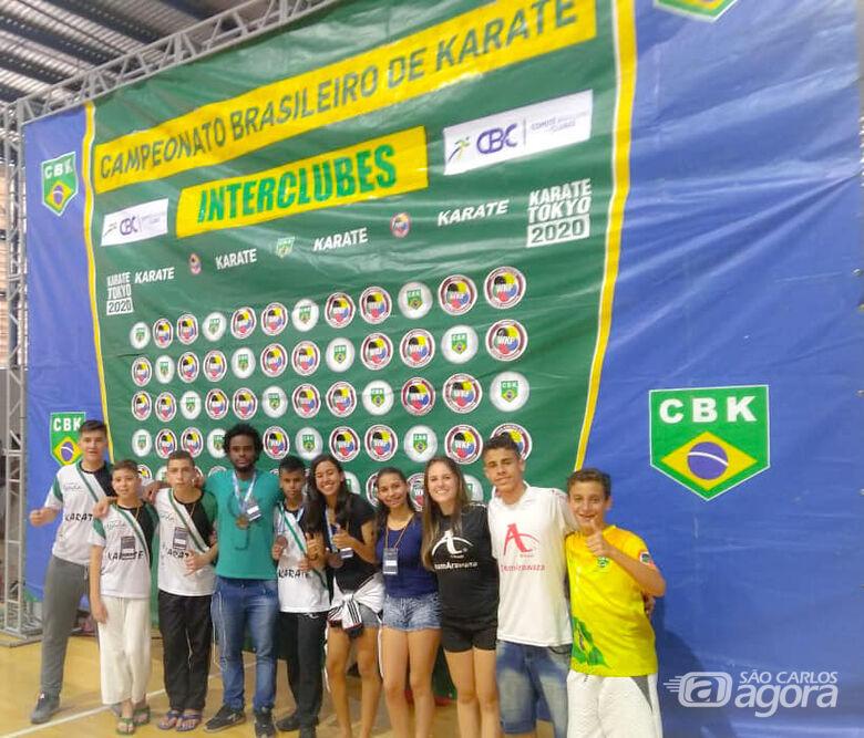 Equipe são-carlense conquista seis medalhas no Brasileiro de Karatê - Crédito: Divulgação
