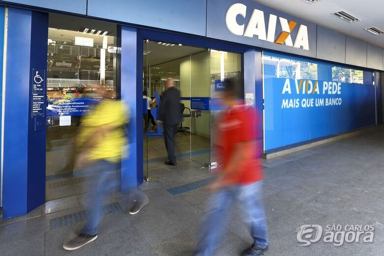 Agências da Caixa estarão abertas neste sábado para saque imediato do FGTS - Crédito: Divulgação