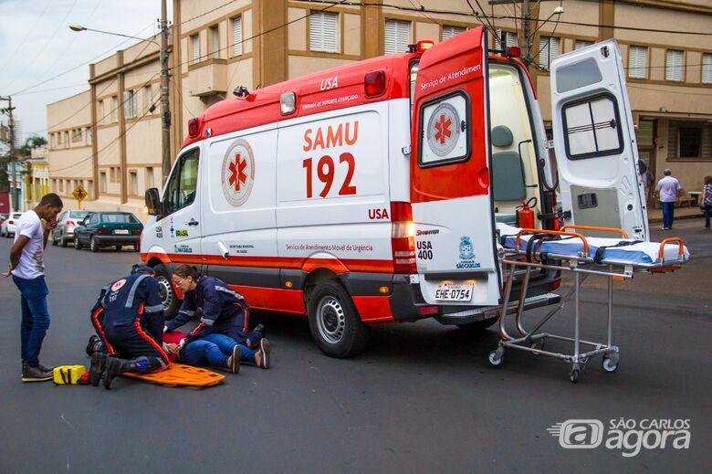 Motociclista perde controle da moto e sofre acidente - Crédito: Marco Lúcio