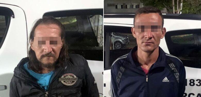 Dois procurados pela Justiça são detidos pela PM - Crédito: Divulgação/PM