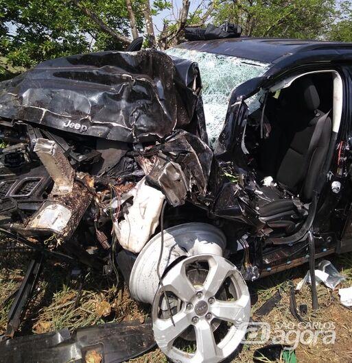Motorista sofre grave acidente na Washington Luis - Crédito: Grupo Rio Claro SP