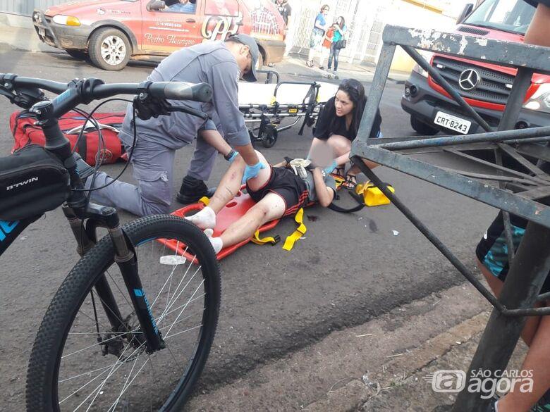 Ciclista fratura o fêmur após violenta colisão na Lagoa Serena - Crédito: São Carlos Agora