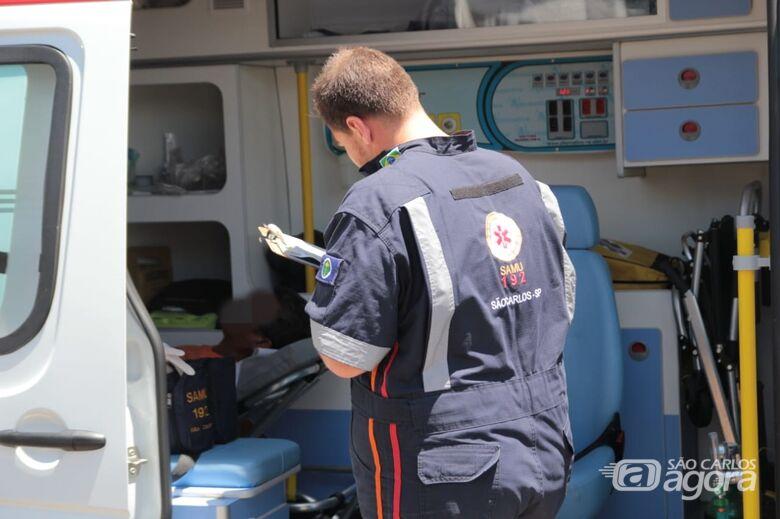 Homem sofre fratura exposta no pé durante trabalho - Crédito: Marco Lúcio