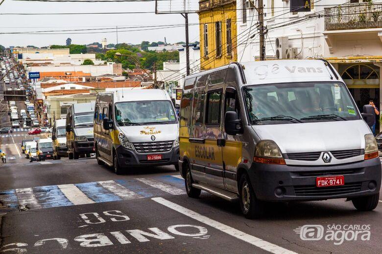 Por projeto original, motoristas de vans escolares pressionarão vereadores na Câmara - Crédito: Marco Lúcio
