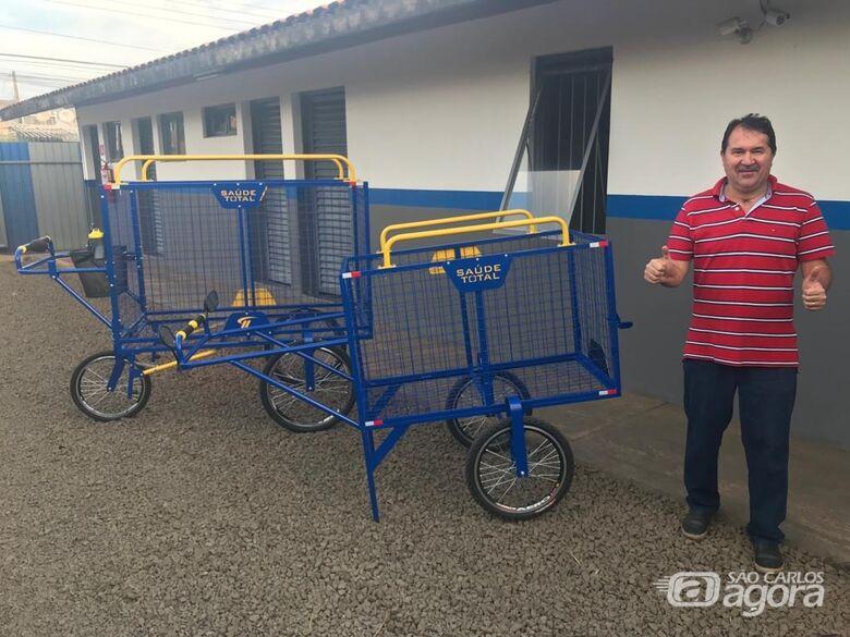 Empresa de Jaboticabal doará carrinho para avós recicladores - Crédito: Divulgação