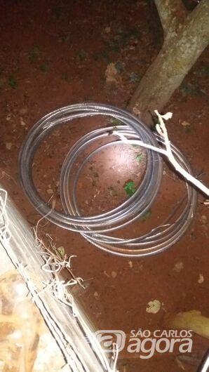Dupla é presa em flagrante após furto de fiação em Guarapiranga -