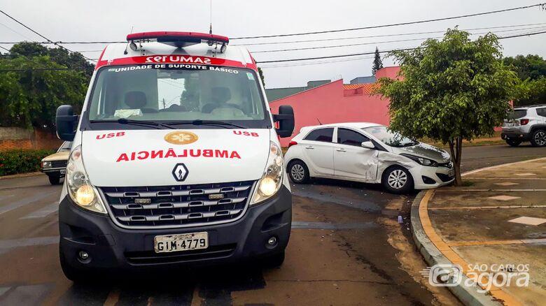 Carros colidem no Planalto Paraíso e jovem fica ferido - Crédito: Marco Lúcio