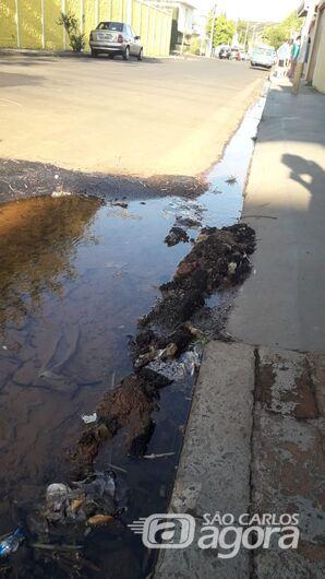 Vazamento de água em frente à escola completa uma semana na Vila Nery - Crédito: Divulgação